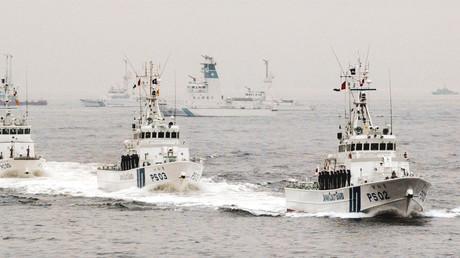 Schiffe der japanischen Küstenwache