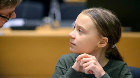 Die schwedische Klimaaktivistin Greta Thunberg vor ihrem Treffen mit den EU-Umweltministern in Brüssel. (5. März 2020)