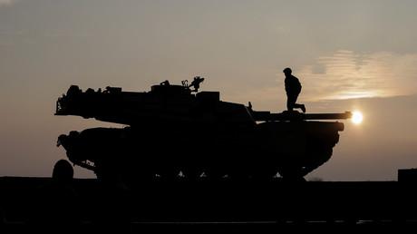 Ein in Rumänien stationierter US-amerikanischer Panzer. Archivbild.
