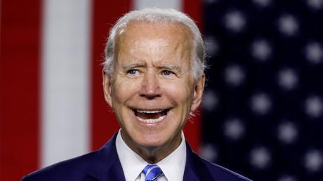 Der voraussichtliche demokratische US-Präsidentschaftskandidat Joe Biden während einer Wahlkampfveranstaltung in Wilmington, Delaware am 14. Juli 2020