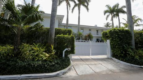Eine Residenz des Investmentbankers und mutmaßlichen Sexualverbrechers Jeffrey Epstein in Palm Beach, USA
