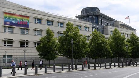 Die US-Botschaft in Berlin im Juli 2020