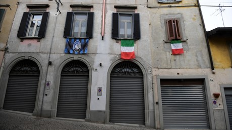 Die norditalienische Stadt Bergamo im