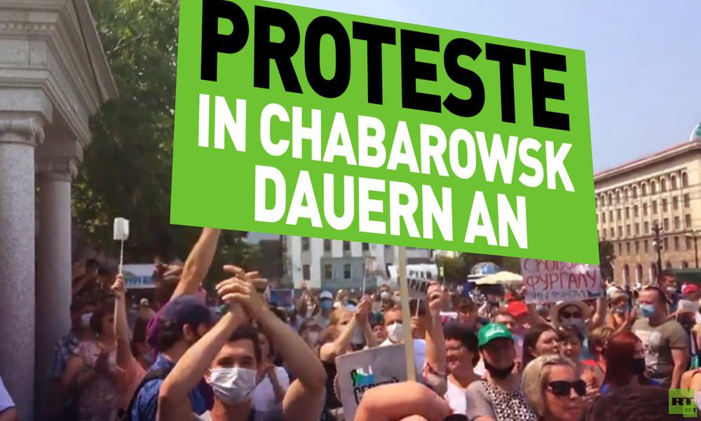 Russland: Proteste in der Region Chabarowsk dauern an