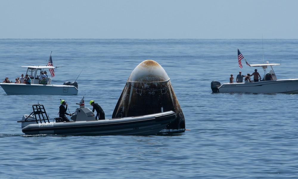 SpaceX: US-Astronauten nach ISS-Mission zurück auf der Erde