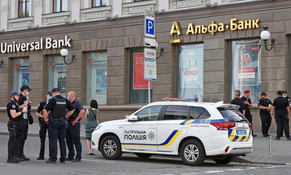 Geiselnahme in Bankfiliale in Kiew – Täter festgenommen