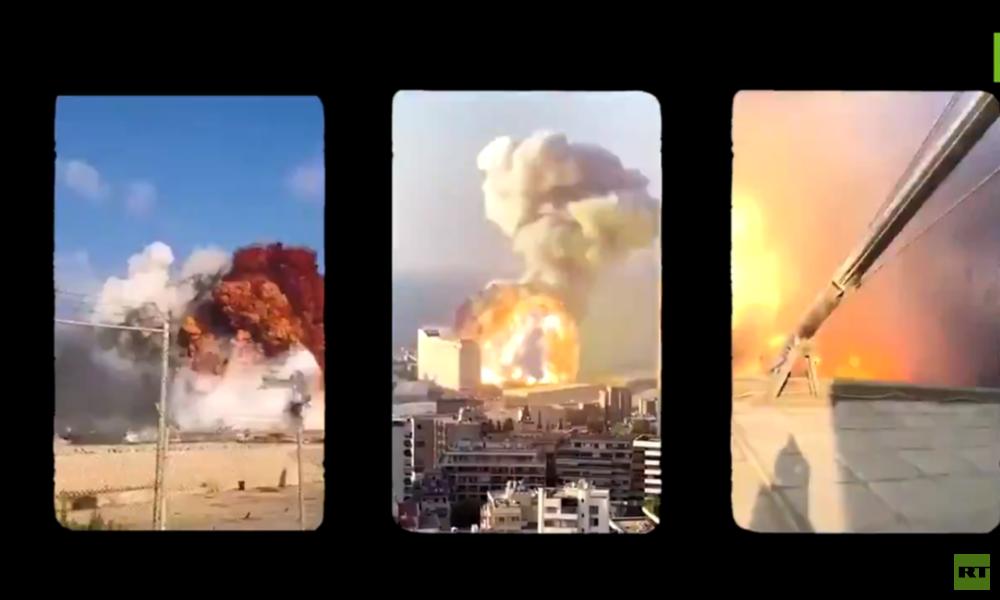 Video: Die gewaltige Explosion in Beirut aus 15 synchronisierten Perspektiven