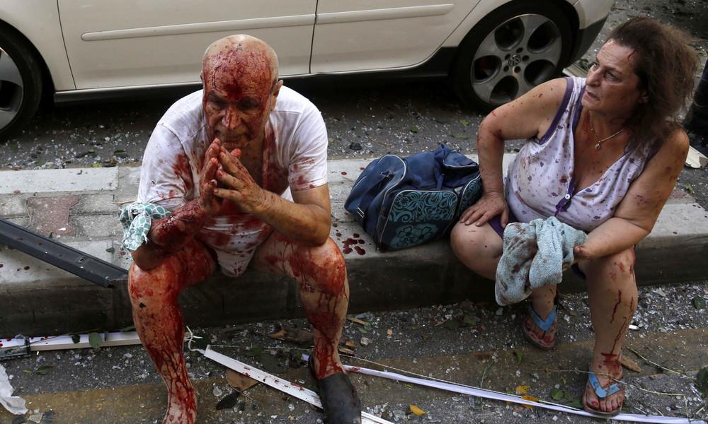 Explosion in Beirut: Aufnahmen zeigen Ausmaß der Zerstörung (Video)