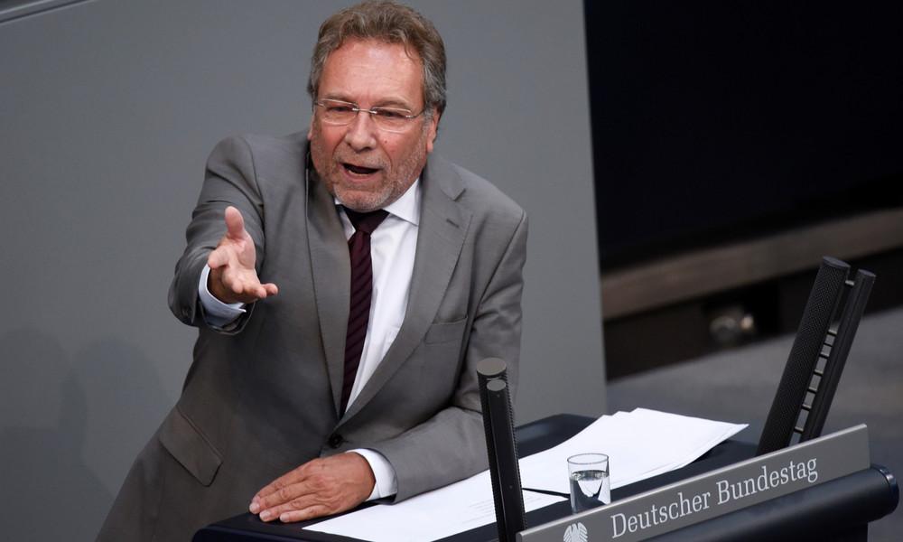 Linken-Politiker Klaus Ernst fordert zum Widerstand gegen US-Sanktionspolitik auf
