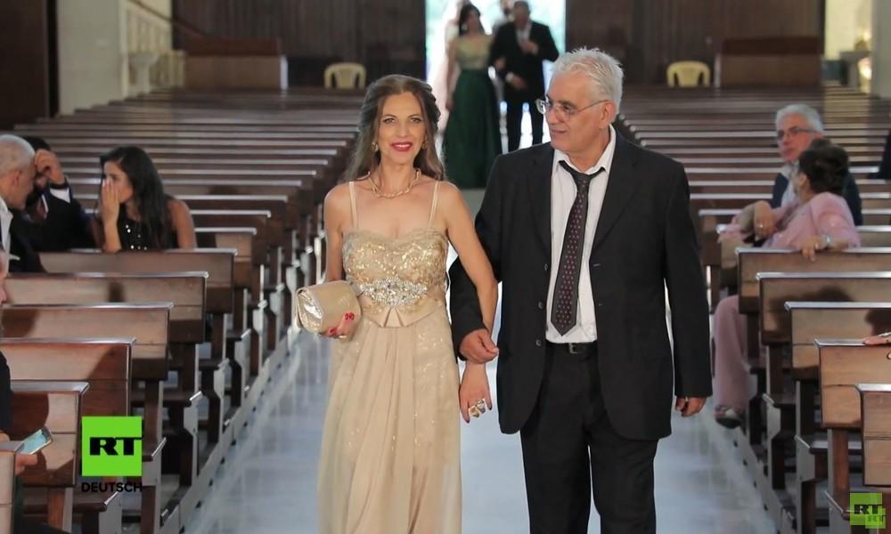 Albtraum statt Hochzeit: Explosion in Beirut unterbricht Zeremonie – Gäste in Panik (Video)