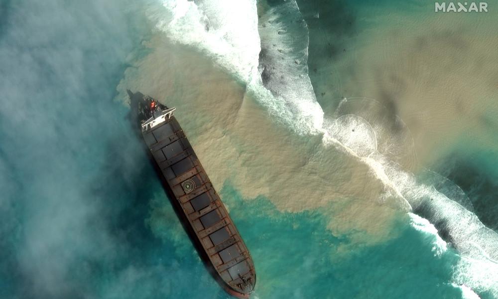 Ölkatastrophe vor Mauritius: Schiffinhaber entschuldigt sich, Regierungschef bittet um Auslandshilfe