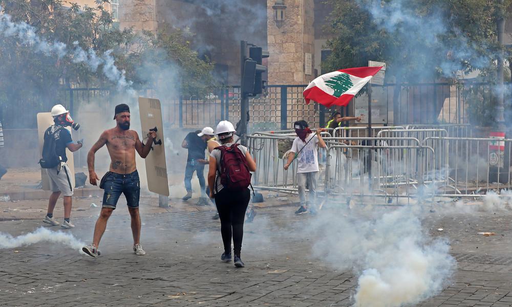 LIVE: Proteste gegen die Regierung in Beirut