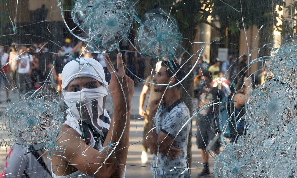 Erneut Hunderte Menschen bei Protesten in Beirut: Polizei setzt Tränengas ein
