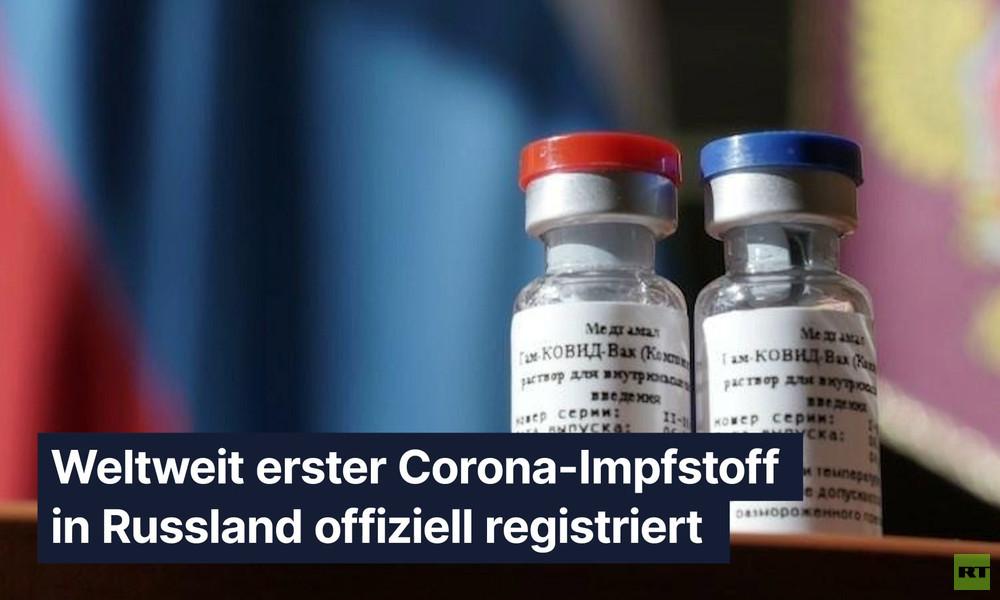 Weltweit erster Corona-Impfstoff in Russland offiziell registriert