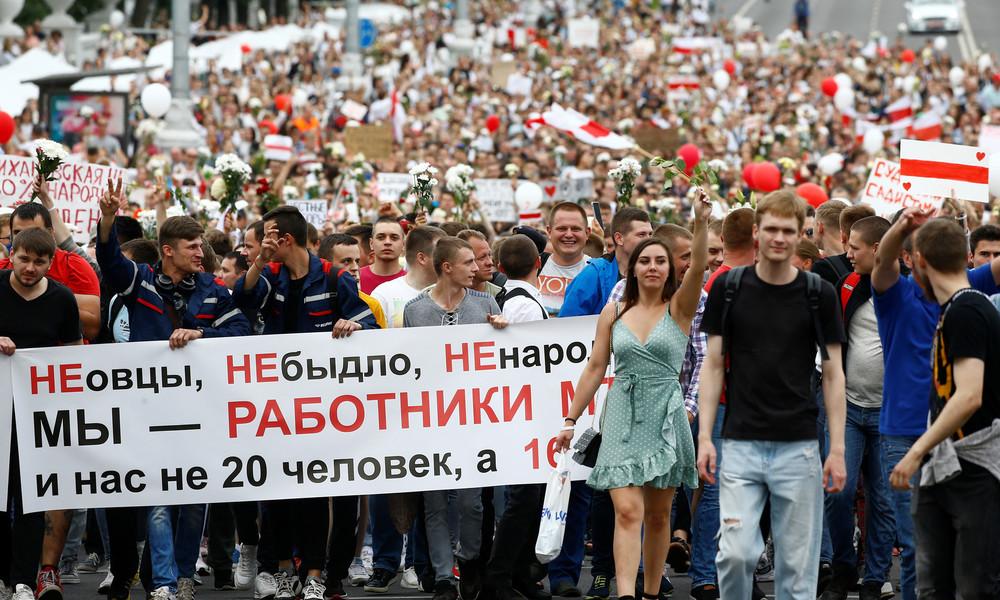 Weißrussland: Massenproteste gehen weiter – Offizielles Wahlergebnis veröffentlicht