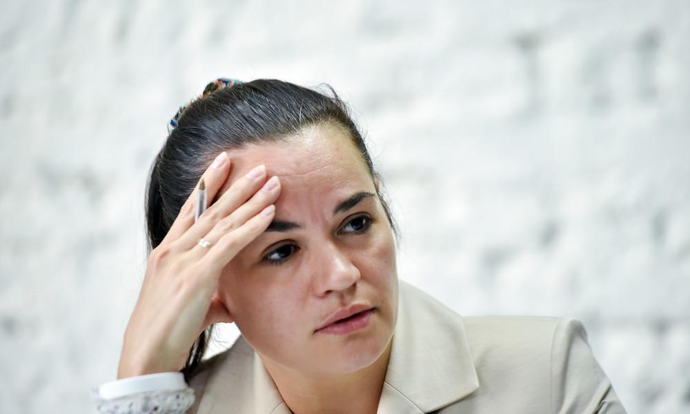 Swetlana Tichanowskaja bittet EU um Nichtanerkennung der Präsidentschaftswahl in Weißrussland