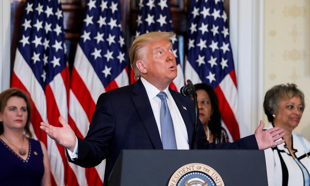 """""""Ob ich Terroristen unterstütze?"""" Donald Trump mit freudschem Versprecher zu Weißrussland"""
