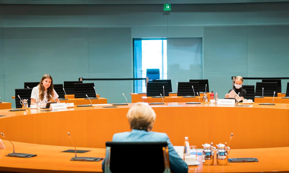 Video: Pressekonferenz nach Treffen zwischen Kanzlerin Merkel mit Greta Thunberg und Neubauer