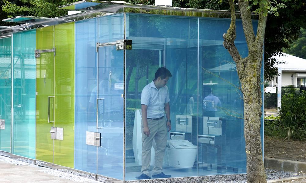 Ich sehe was, was du nicht siehst: Tokio sorgt mit durchsichtigen WC-Anlagen für Verwirrung