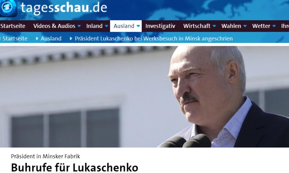 Tagesschau-Halali zum Abschuss Lukaschenkos