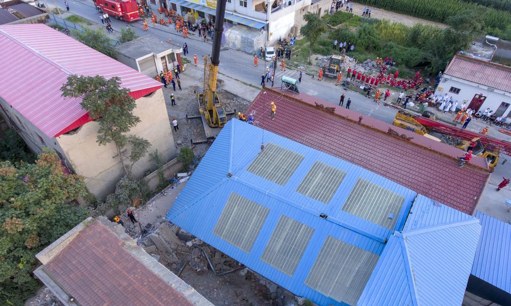 Mindestens 29 Tote nach Einsturz eines Restaurants in China