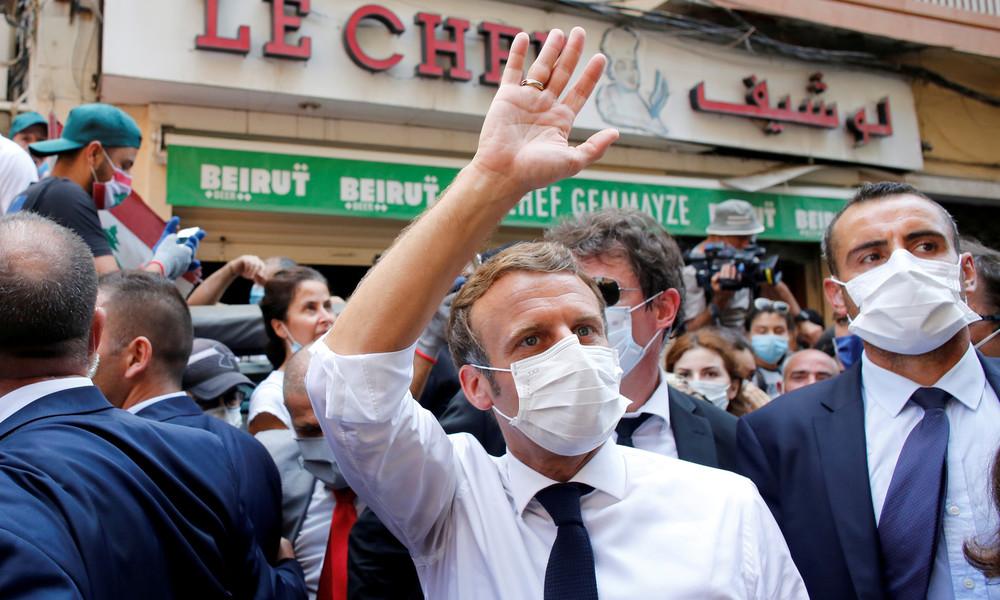 """Reformen als Bedingung für Hilfe: Macron will """"notwendigen Druck"""" auf Libanon ausüben"""