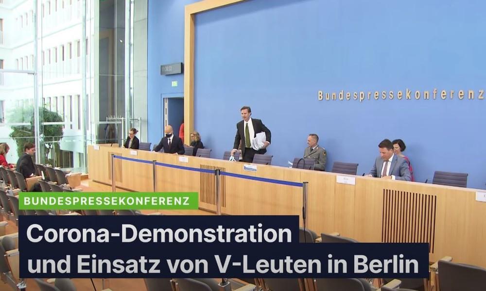 """BPK zu """"Sturm auf Reichstag"""" – Innenministerium bestätigt Einsatz von V-Leuten bei Corona-Protesten"""