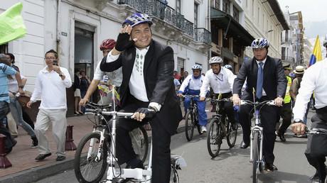 Wieder zurück im Rennen? Der ehemalige ecuadorianische Präsident Rafael Correa.