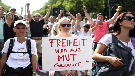 Demonstrationszug am Samstag in Berlin