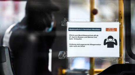 Maskenverweigerern droht in NRW ein Bußgeld von 150 Euro.