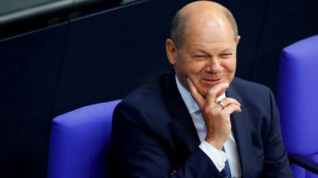 Vizekanzler Olaf Scholz am 2. Juli 2020 bei einer Sitzung im Bundestag