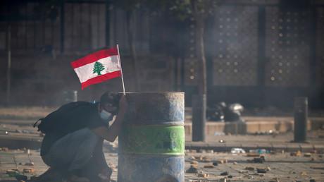 Proteste im Zentrum Beiruts nach verheerender Explosion (Symbolbild)