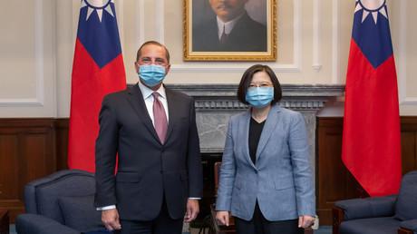 US-Gesundheitsminister Alex Azar bei einem Treffen mir der taiwanesischen Präsidentin Tsai Ing-wen in Taipeh.