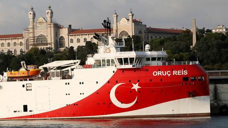 Das türkische seismische Forschungsschiff Oruç Reis am 22. August 2019 in Istanbul, Türkei. (Archivbild)