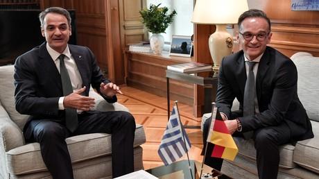 Bundesaußenminister Heiko Maas zu Besuch beim griechischen Ministerpräsidenten Kyriakos Mitsotakis am 21. Juli in Athen