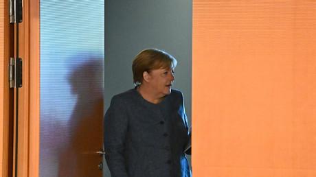 Bundeskanzlerin Merkel bei der Kabinettssitzung am vergangenen Mittwoch