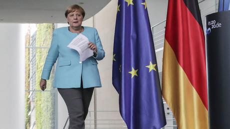 Bundeskanzlerin Angela Merkel am Mittwoch nach einem Sondergipfel zur politischen Krise in Weißrussland.