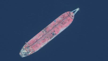 Nahaufnahme des Öltankers FSO Safer, die