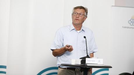 Schwedens staatlicher Chefepidemiologe Anders Tegnell während einer Pressekonferenz am 25. Juni.