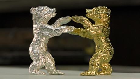 Gold- und versilberte Berliner Bärenpreise für die Internationalen Filmfestspiele Berlinale.