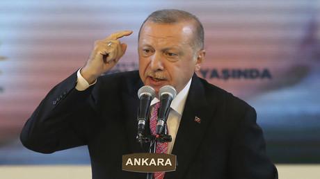 Der türkische Präsident Recep Tayyip Erdoğan während einer AKP-Veranstaltung in Ankara am 13. August.