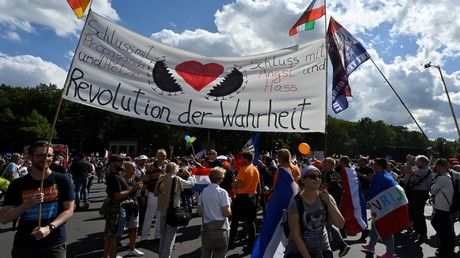 Demonstranten am 29. August in Berlin.