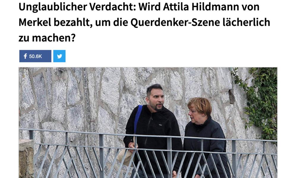 """""""Von Merkel bezahlt"""" – Hildmann-Anhänger fallen auf Satire-Beitrag rein"""