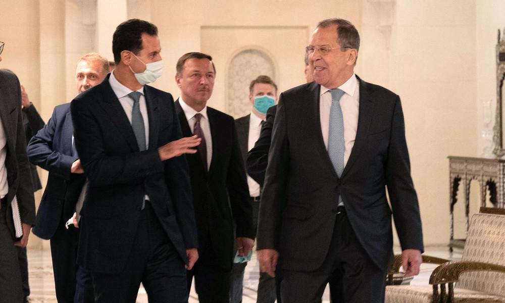 Lawrow in Syrien: Russland macht Front gegen Caesar-Act der USA