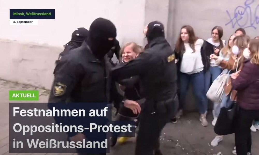 Zahlreiche Festnahmen auf Oppositions-Protest in Weißrussland