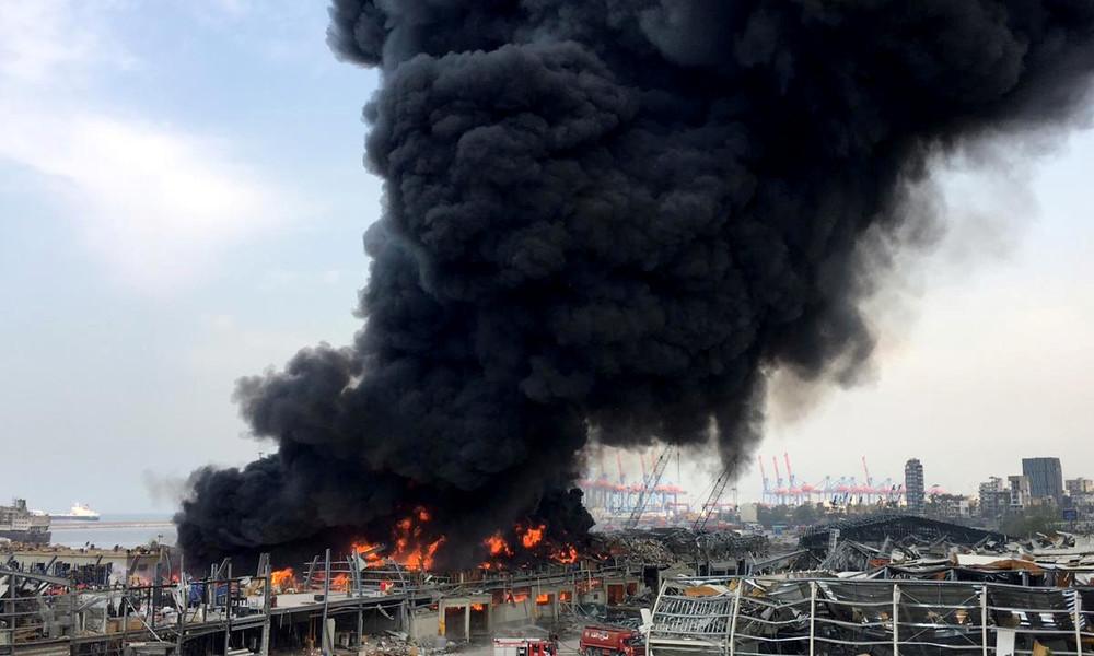 LIVE: Erneut Großfeuer am Hafen von Beirut