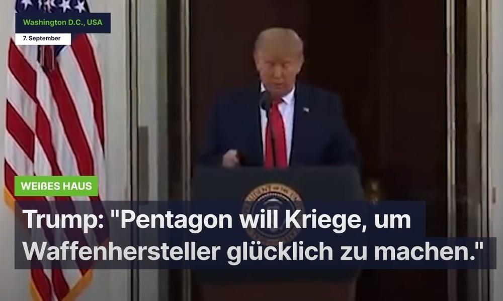 """""""Wir beenden die endlosen Kriege"""" - Trump kritisiert Pentagon"""
