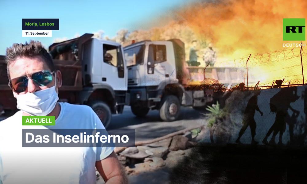 Inselbewohner wollen Wiederaufbau vom Flüchtlingscamp Moria stoppen (Video)
