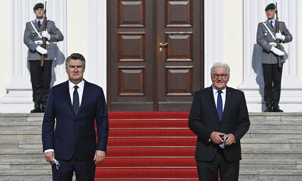 Kroatischer Präsident in Berlin: Deutschland wird wegen russischem Gas unter Druck gesetzt