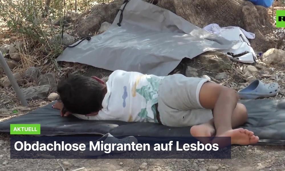 Obdachlose Migranten auf Lesbos: Berlin diskutiert Aufnahme (Video)